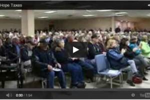 Port Hopers for Fair Taxes Area Rating Taxes Public Event Port Hope Ontario