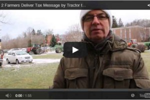 Tractor protest against high taxes in Port Hope Ontario
