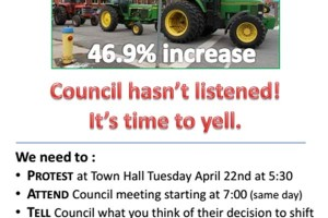 Municipality of Port Hope area rating property tax increase protest revolt by Ward 2 former Hope Township of Hope