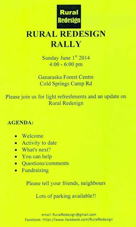 Rural Redesign Rally Event, June 1, 2014, 4-6pm