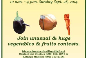 Harvest Festival and Heritage Crafts Sale, by Friends of Wesleyville Village
