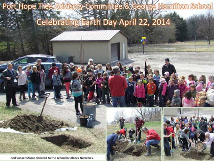 George Hamilton School Welcome Ontario GRCA tree planting